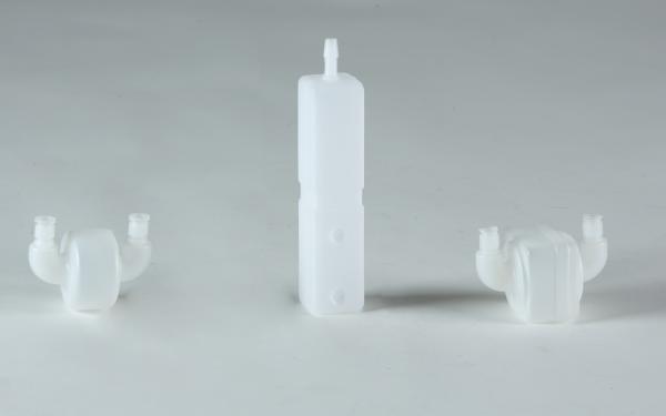 Esempi di raccordi  in plastica realizzati su disegno del cliente